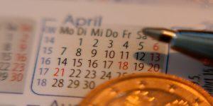 Calendário para agendamento de calibrações.