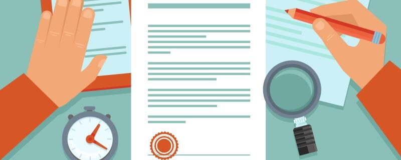Ilustração de pessoa trabalhando na revisão da ISO 17025.