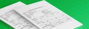 Imagem de dois certificados com um fundo verde, simbolizando o artigo sobre certificados de calibração!