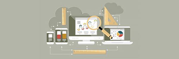 imagem com um computador no centro e vários aparelhos de medição ao seu redor. Essa imagem simboliza o artigo sobre Centralização das Informações na Metrologia.